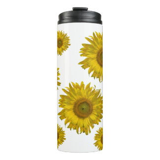 Yellow Scattered Sunflowers Thermal Tumbler