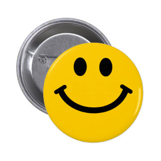 Yellow Smiley Face 6 Cm Round Badge