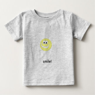 yellow smiley face, smile! baby T-Shirt