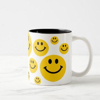 Yellow Smiley Face Two-Tone Mug