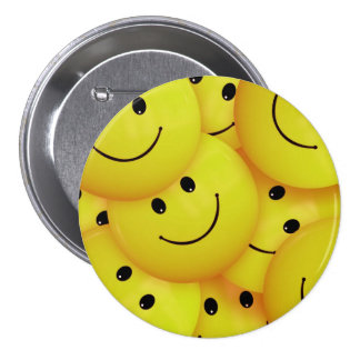 Yellow Smiley Faces 7.5 Cm Round Badge