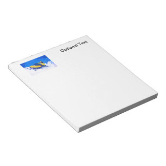 Yellow Snowmobile in Blizzard Notepads