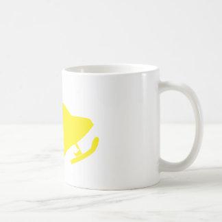 Yellow-Snowmobiler Coffee Mug