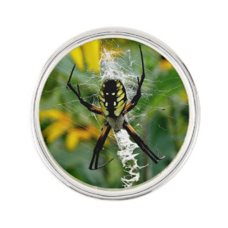 Yellow Spider Lapel Pin