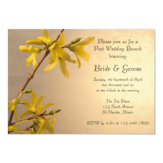Yellow Spring Forsythia Post Wedding Brunch Invite