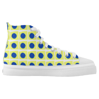 Yellow Star Printed Shoes