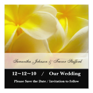 Yellow Summer save the date Card