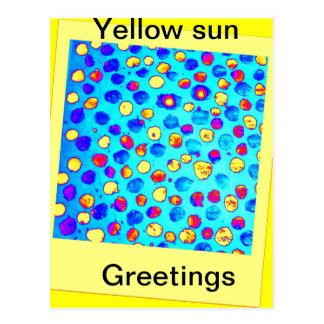 Yellow Sun Greetings Post Card