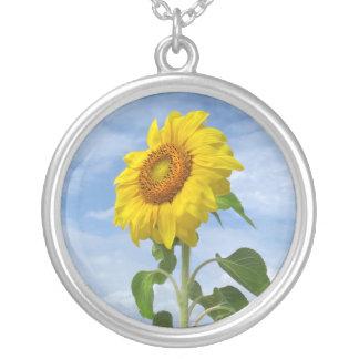 Yellow Sunflower Flower Necklace