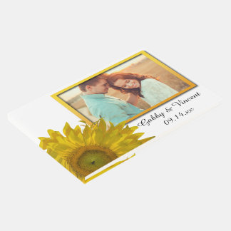 Yellow Sunflowers Wedding Guest Book