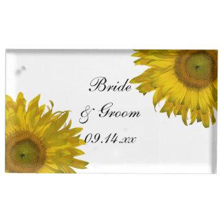 Yellow Sunflowers Wedding Place Card Holder