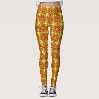 Yellow Suns and Orange Shells Leggings