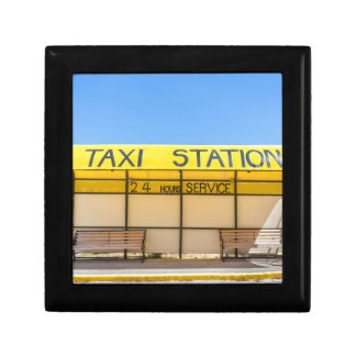 Yellow taxi station at coast in Greece Gift Box