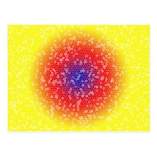Yellow through he net postcard
