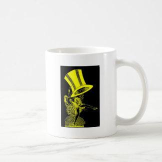 Yellow Top Hat Basic White Mug
