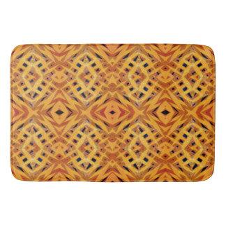 Yellow tribal shapes pattern bath mats