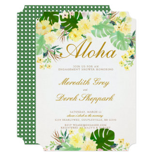 Yellow Tropical Engagement Invite