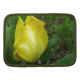 Yellow Tulip in the Rain - Folio Planner