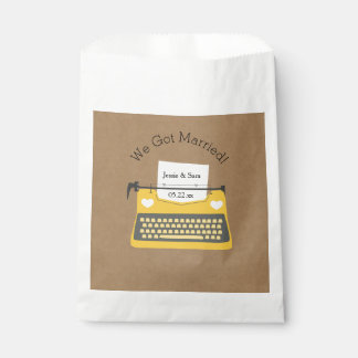 Yellow Typewriter Customized Wedding Favor Bags Favour Bags