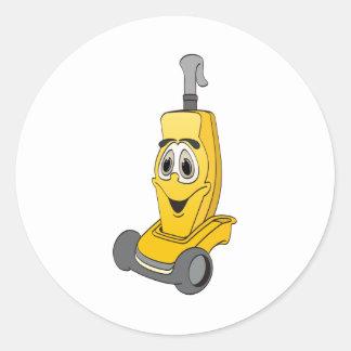 Yellow Vacuum Cleaner Classic Round Sticker