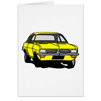 Yellow Vauxhall Viva HC Card