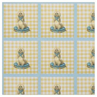 Yellow Vintage Dog Fabric