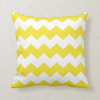 Yellow / Vivid Yellow Chevron Pattern Throw Pillow