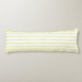 Yellow Watercolor Chevron Zigzag Pattern Body Cushion