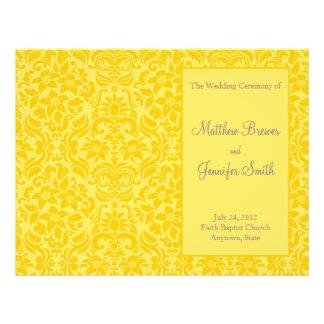 Yellow Wedding Order of Service & Ceremony Program 21.5 Cm X 28 Cm Flyer