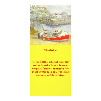 'Yellow Wellies' Large Bookmark / Rack Card