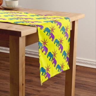 Yellow Whimsical  Elephant Table Runner