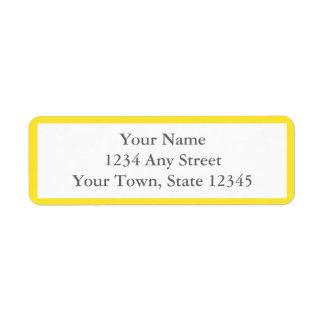 Yellow & White Envelope Return Address Labels Return Address Label