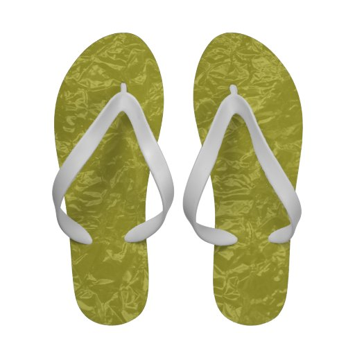 yellow wrinkled foil sandals