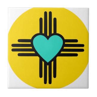 Yellow Zia Heart Tile