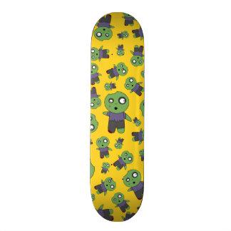 Yellow zombies 21.6 cm skateboard deck