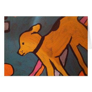 Yellowdog painting Greeting Card by Willowcatdesig