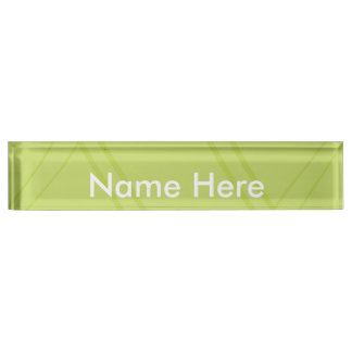 YellowGreen Crissed Crossed Desk Nameplate
