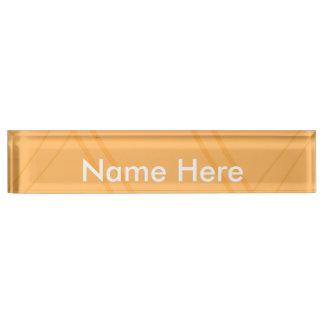 YellowOrange Crissed Crossed Name Plates