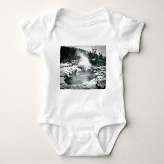 Yellowstone Geyser Vintage Glass Slide Baby Bodysuit