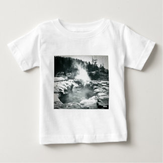 Yellowstone Geyser Vintage Glass Slide Baby T-Shirt