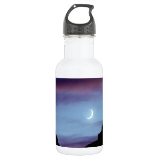 Yellowstone Moon Over Wyoming 532 Ml Water Bottle