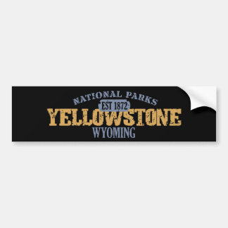 Yellowstone National Park in National Park Bumper Stickers