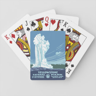 Yellowstone National Park Souvenir - Vintage WPA Playing Cards