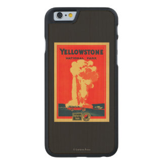 Yellowstone, Old Faithful Advertising Poster Carved Maple iPhone 6 Case
