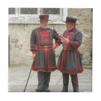 Yeoman warders, or beefeaters on duty tile
