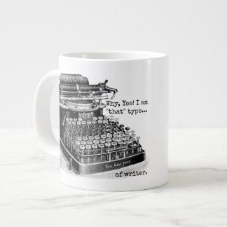 Yes I am that type of writer Large Coffee Mug
