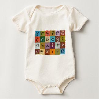 Yes Peace Begins Baby Bodysuit
