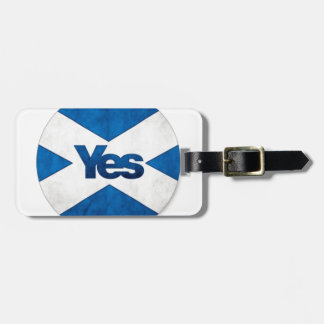 Yes to Independent Scotland 'Saor Alba Go Bragh' Luggage Tag