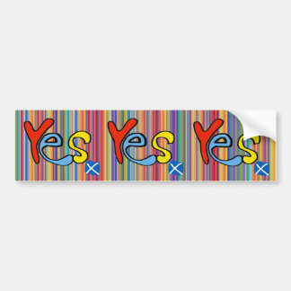 Yes Yes Yes Scottish Independence Sticker Bumper Stickers