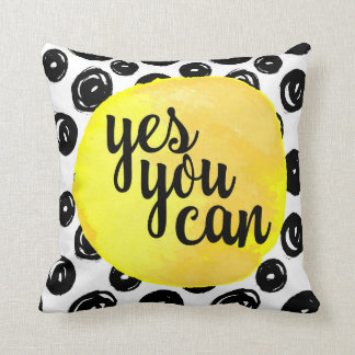 Yes You Can Quote Cushion